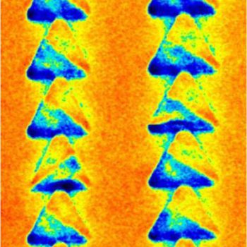 Magnetic triangles structures, MFM mode, 4.5µm