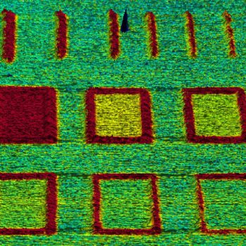 Local Oxidation Nanolithography, ResiScope mode, 5µm